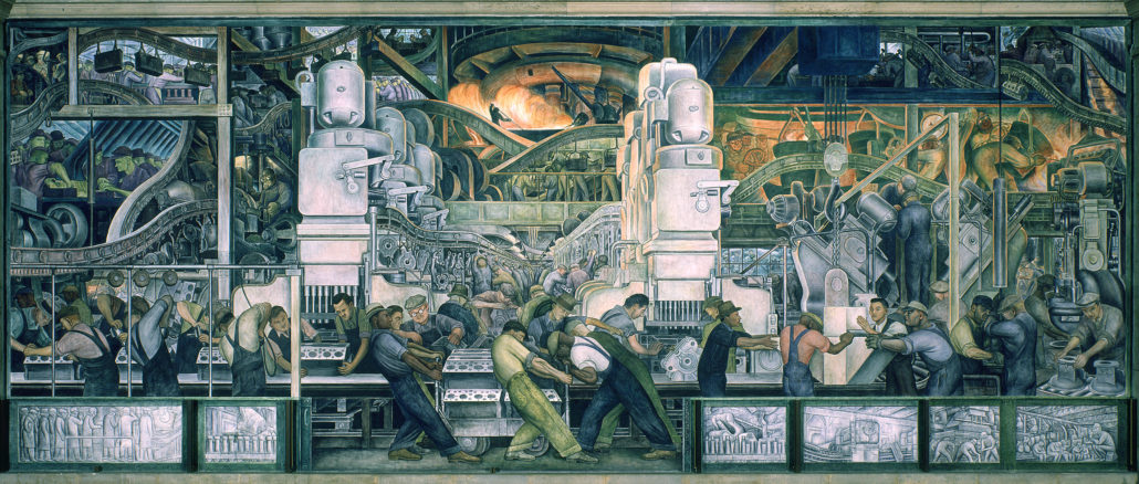 Mural de Diego Rivera. Detroit Institute of Arts.